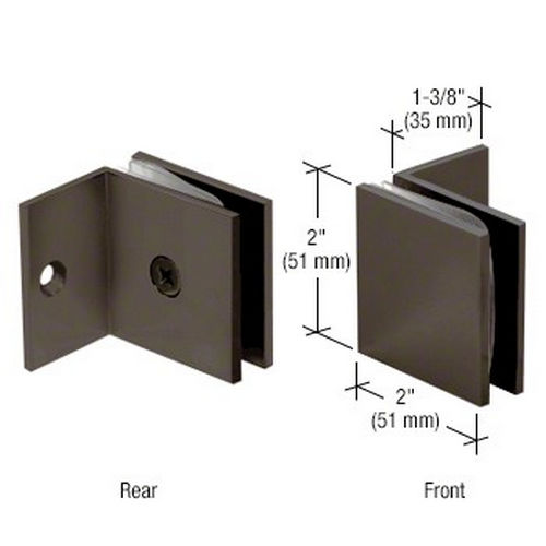 CRL SGC0370RB Square Wall Mount Fixed Panel With Small Leg Clamp