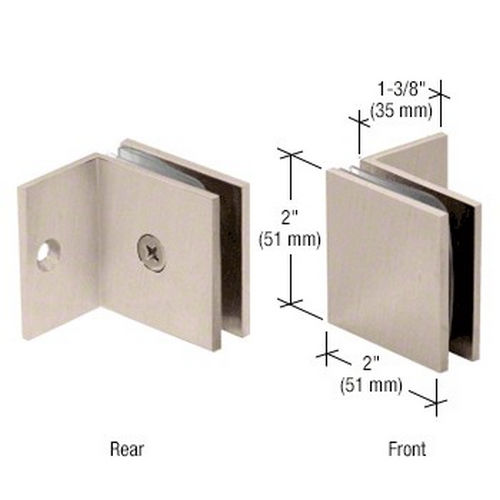 CRL SGC037BN Square Wall Mount Fixed Panel With Small Leg Clamp