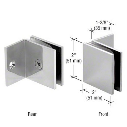 CRL SGC037CH Square Wall Mount Fixed Panel With Small Leg Clamp