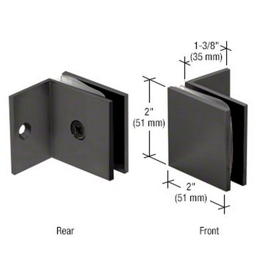 CRL SGC037MBL Square Wall Mount Fixed Panel With Small Leg Clamp