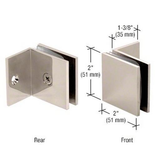 CRL SGC037PN Square Wall Mount Fixed Panel With Small Leg Clamp