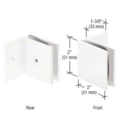 CRL SGC037W Square Wall Mount Fixed Panel With Small Leg Clamp