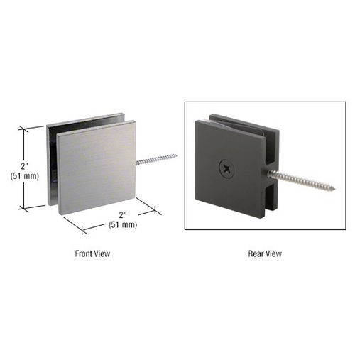 CRL SGC186BN Square Wall Mount Movable Transom Clamp