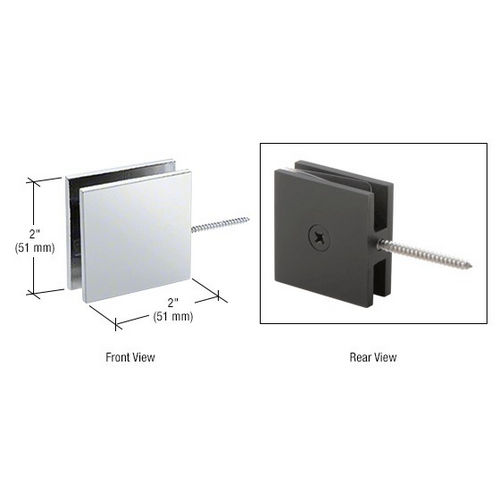 CRL SGC186CH Square Wall Mount Movable Transom Clamp