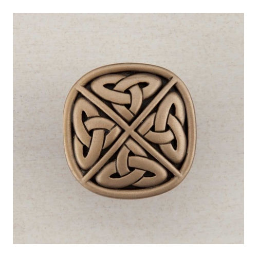 Acorn DQGGP Artisan Collection Knob Celtic Square 1-1/4