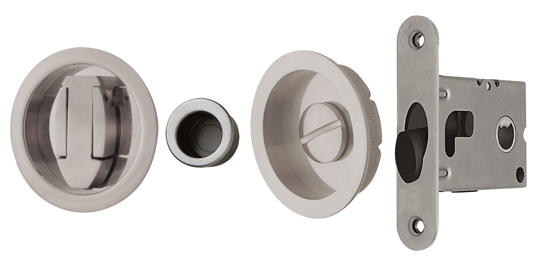 Ahi Sdk091pv 45 Privacy Pocket Door Kit Polished Brass