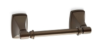 Amerock BH26507CBZ Pivoting Double Post Tissue Roll Holder, Caramel Bronze