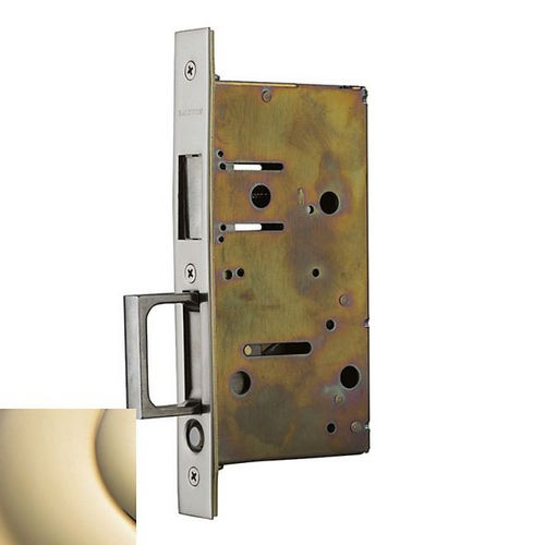 Baldwin 8603003 Pocket Door Stike with Pull for Dummy Side of Double Door, Lifetime Brass