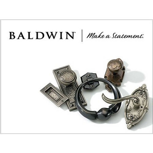 Baldwin 6622 Hamilton Active Outside Trim Only, Lifetime Polished Brass