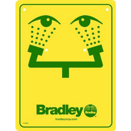Bradley 114-051 Safety Sign, Eyewash