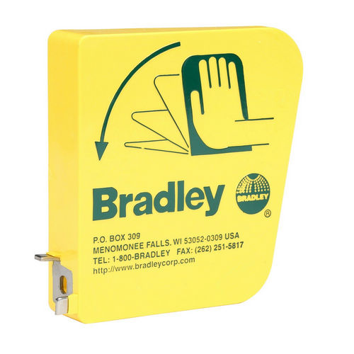 Bradley 128-135 Eyewash Yellow Plastic Handle