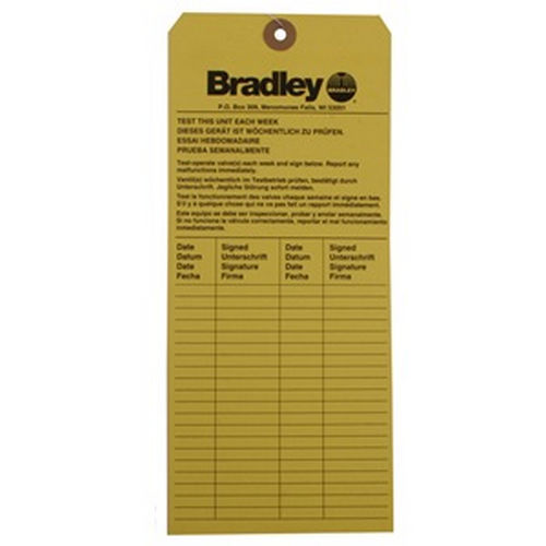 Bradley 204-421 Emergency Inspection Tag