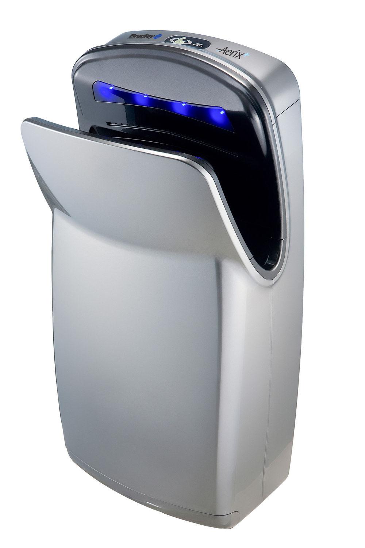 homebathroomwashroom accessorieshand hair dryersautomatic bradley 2921 s0000h high speed vertical dryer silver - Bradley Bathroom Accessories