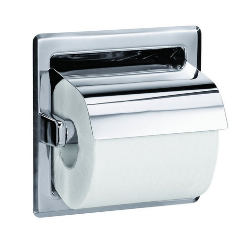 Bradley 5103-550000 Toilet Tissue Dispenser, Recessed, Single