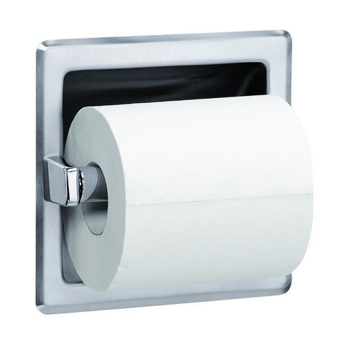 Bradley 5104-000000 Toilet Tissue Dispenser, Recessed, Single