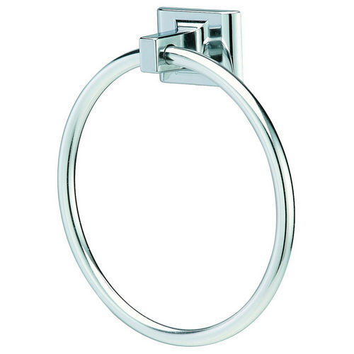 Bradley 934-000000 Towel Ring, Chrome Plated, Surface-Mounted