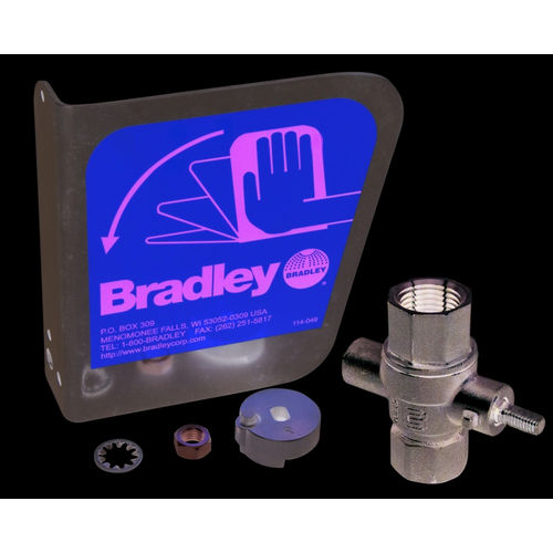 Bradley S30-071 Stainless Eyewash Handle Prepack-1/2