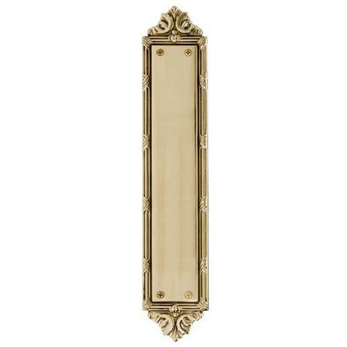 Brass Accents A05-P7230 Ribbon & Reed Push Plate 2-1/2