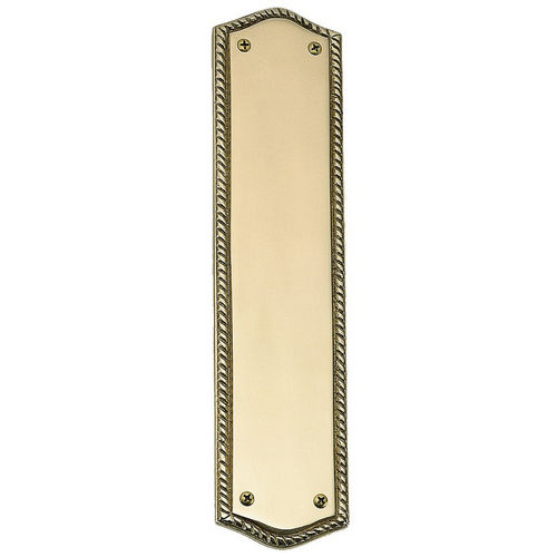 Brass Accents A06-P0250 Oval Rope Push Plate 2-1/2