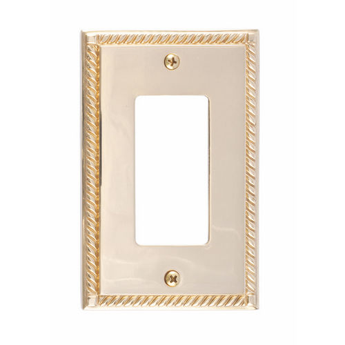 Brass Accents M06-S8520 Georgian Single GFCI, Polished Brass