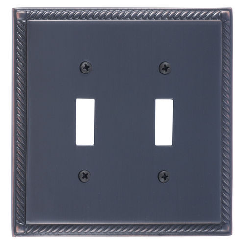 Brass Accents M06-S8530 Georgian Double Switch, Venetian Bronze