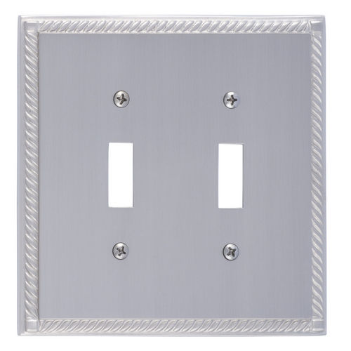 Brass Accents M06-S8530 Georgian Double Switch, Satin Nickel