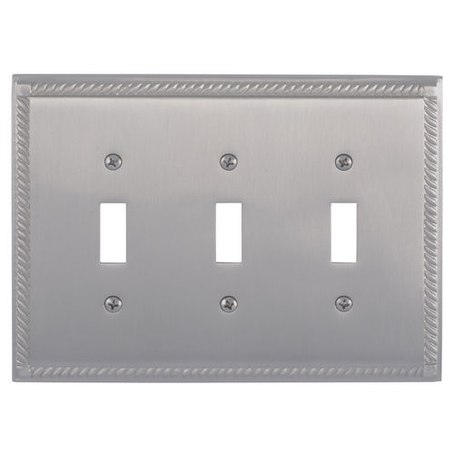Brass Accents M06-S8550 Georgian Triple Switch, Satin Nickel