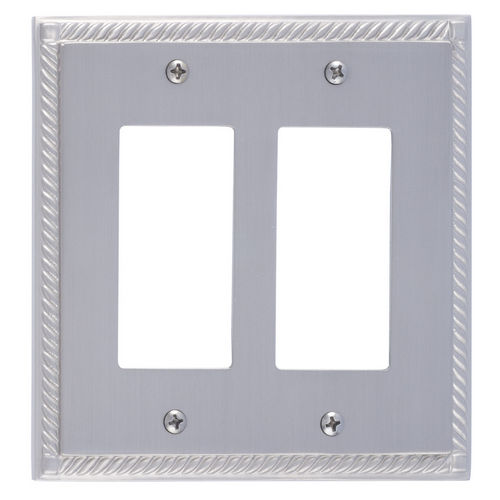 Brass Accents M06-S8570 Georgian Double GFCI, Satin Nickel