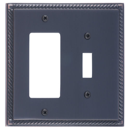 Brass Accents M06-S8571 Georgian Double, 1-Switch/1-GFCI, Venetian Bronze