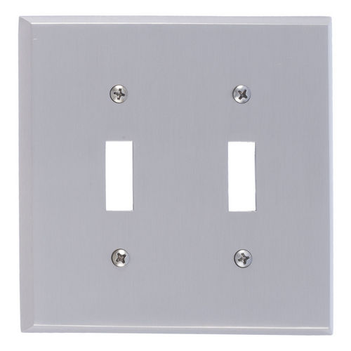 Brass Accents M07-S4530 Quaker Double Switch, Satin Nickel