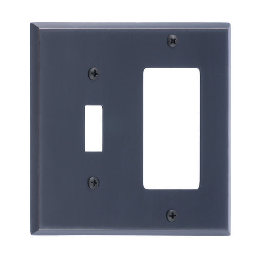 Brass Accents M07-S4571 Quaker Double; 1-Switch/1-GFCI, Venetian Bronze