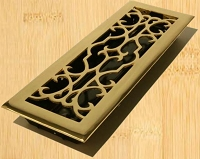 Decor Grates A414 Victorian Design In Solid Brass Floor Registers 4