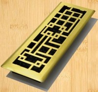Decor Grates AB414 Abstract Design In Solid Brass Floor Registers 4