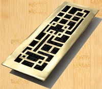 Decor Grates AB414-SB Abstract Design In Solid Brass Floor Registers 4