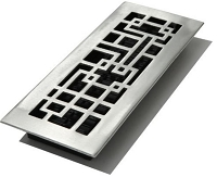 Decor Grates ABA414-NKL Abstract Floor Registers 4
