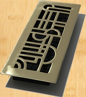 Decor Grates AD414 Art Deco Design In Solid Brass Floor Registers 4