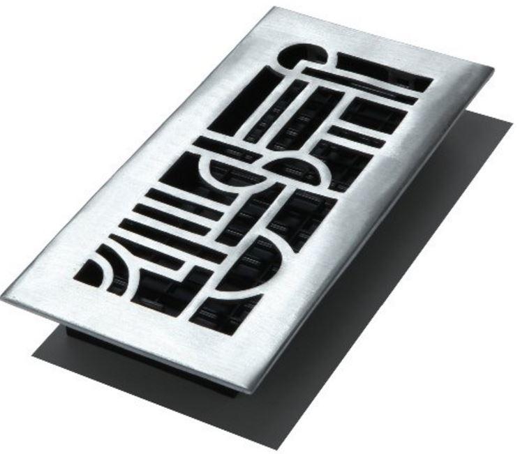 Decor Grates ADA412-NKL Art Deco Floor Registers 4