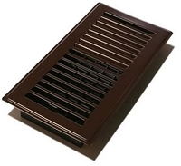Decor Grates LP410-DKBWN Louvered Cold design Floor Registers 4