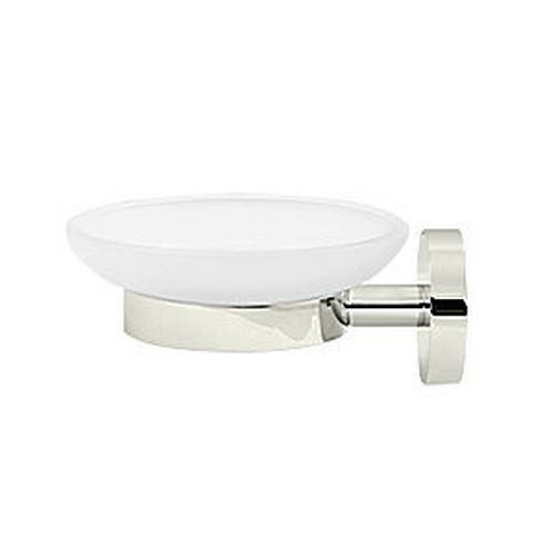 Deltana BBS2012-14 Soap Holder with Glass Sobe Series, Polished Nickel