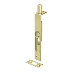 Deltana 6fbs3 Unl Flush Bolt Hdsb 6 Square Bright Brass Unl