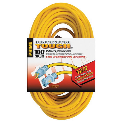 Hafele 008.74.202 Extension Cord, Contractor Grade with Primelight Indicator Light