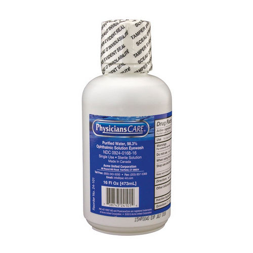 Hafele 007.50.181 Eye Wash Replacement, Bottle 16 oz.