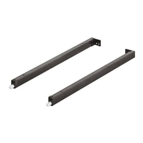 Hafele 551.60.728 Gallery Rail, Hafele MX, Rectangular, Pair