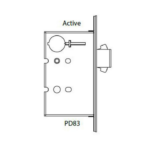 Hafele 911.26.821 Sliding/Pocket Door Lock, Ada Compliant Mortise Lock With Deadbolt, Each