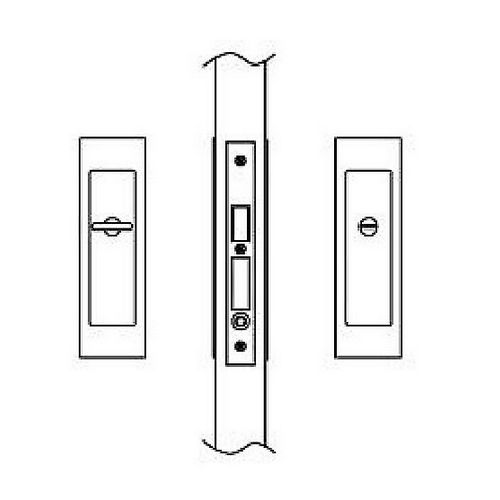 Hafele 911.26.702 Sliding/Pocket Door Lock, Privacy With Emergency Release, Each
