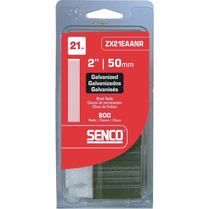 """NEW 50MM MEDIUM HEAD BRAD NAIL GALVANIZED SENCO ZX21EAA 21 GA 2/"""""""