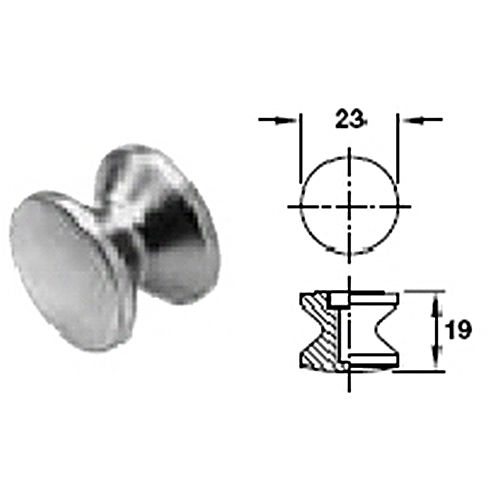 Hafele 229.00.796 Push-Button Knob, Plastic White