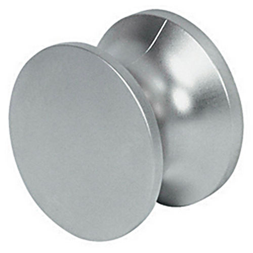 Hafele 229.10.220 Push-Button Knob Solid, Chrome Polished Lacquered