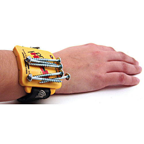 Hafele 007.46.935 Pro Hold Magnetic Wristband, Yellow with Black Strap