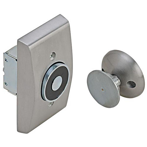 Hafele 912.05.321 Electro-Magnetic Door Holder Recessed Wall Mounted Steel and Zinc Aluminum Painted